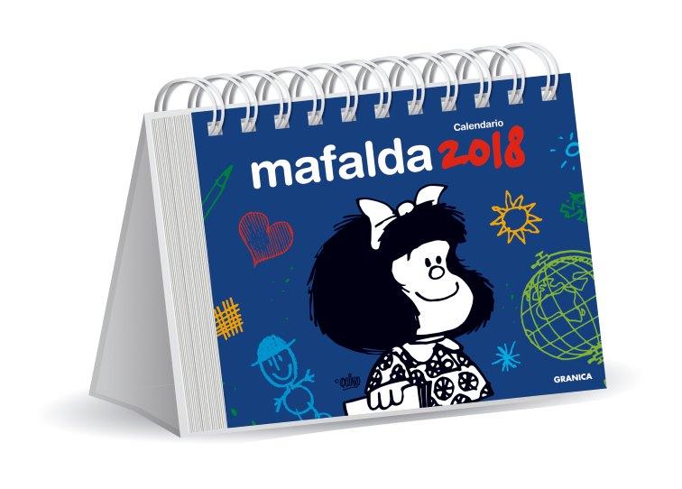 Calendario Mafalda 2018 (azul)