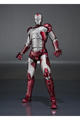 IRON MAN MK V + SET HALL DE ARMADURAS FIGURA 15 CM MARVEL IRON MAN 2 SH FIGUARTS