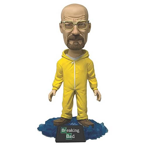 WALTER WHITE TRAJE AMARILLO CABEZON 15 CM BREAKING BAD