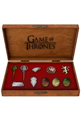 SET PINS METALICOS DELUXE GAME OF THRONES